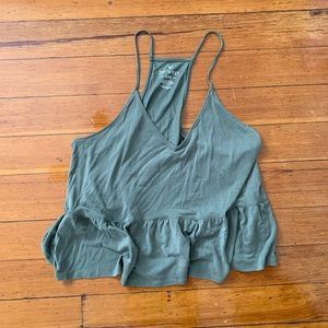 Olive green American eagle tank top